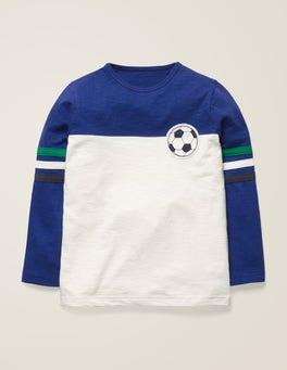 Blau/Naturweiß, Fußball Fußball-T-Shirt