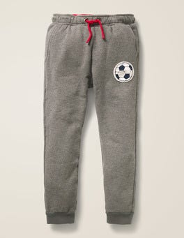 Dark Grey Marl Football Football Detail Joggers