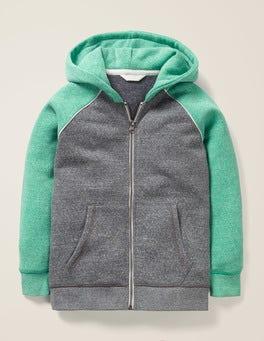 Dark Grey Marl/Astro Green Supersoft Zip-up Hoodie