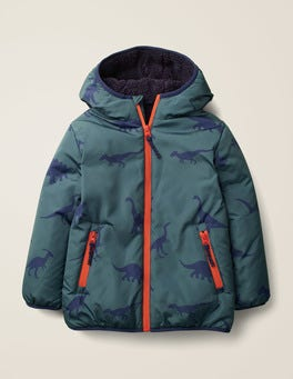 Emerald Night Dinosaurs Teddy-lined Anorak