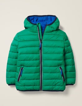 Hike Green Pack-away Padded Jacket