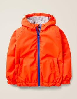 Techno Orange Lightweight Waterproof Anorak