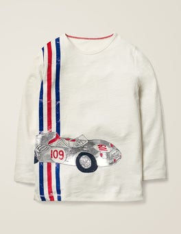 Ivory Sports Car Metallic Fast Vehicle T-shirt