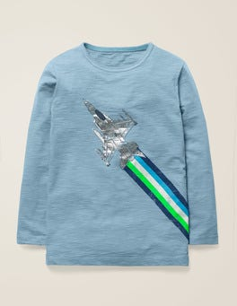 Wren Blue Fighter Jet Metallic Fast Vehicle T-shirt