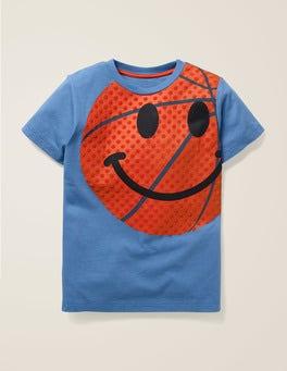 Elizabethan Blue Emoji Sporty Emoji T-shirt