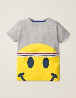 Grey Marl Emoji Sporty Emoji T-shirt