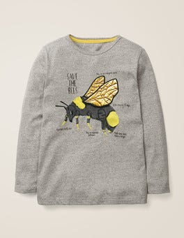 Grey Marl Bee Insect Facts T-shirt