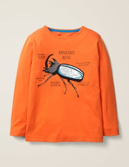 Neon Orange Beetle Insect Facts T-shirt
