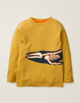 Mellow Yellow Whale Glow-in-the-dark Bones T-shirt