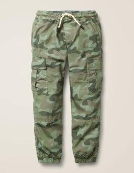 Soft Khaki Camouflage Lined Utility Cargo Pants