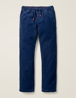 College Blue Cord Relaxed Slim Pull-on Pants