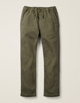 Classic Khaki Relaxed Slim Pull-on Trousers