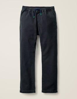 College Blue Herringbone Relaxed Slim Pull-on Pants