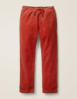 Spark Red Cord Relaxed Slim Pull-on Trousers