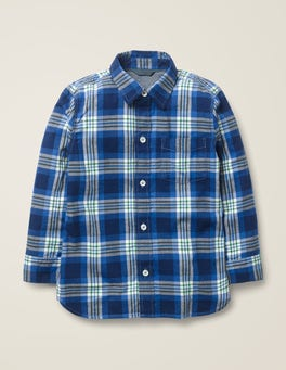 College Blue/Hike Green Casual Twill Shirt