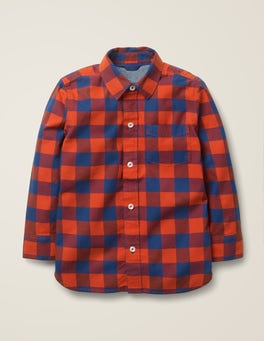 Rocket Red/Starboard Blue Casual Twill Shirt