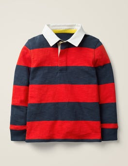 Stormy Blue/Rocket Red Rugby Shirt