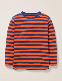 College Blue/Techno Orange Essential Supersoft T-shirt