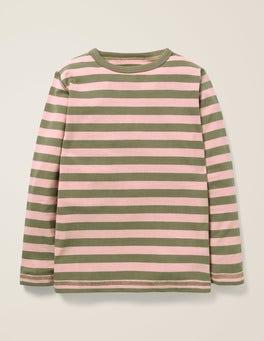Terrain Green/Suffolk Pink Essential Supersoft T-shirt