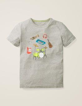 Mid Grey Jaspe Music Fun Printed T-shirt