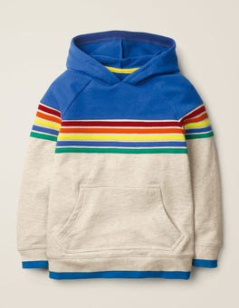 Oatmeal Marl Rainbow Rainbow Stripe Hoodie