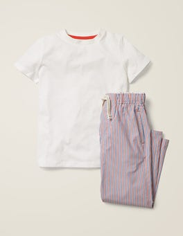 Königsblau/Raketenrot Schlafanzug-Set