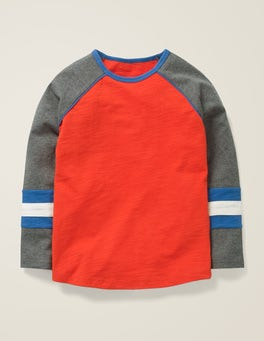 Rocket Red/Grey Jaspe Raglan T-shirt
