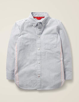 Dunkelblau/Ecru Oxford-Hemd