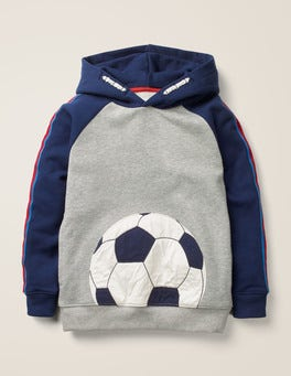 Mid Grey Marl Football Football Hoodie