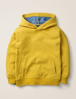 Spicy Mustard Yellow Marl Drop Shoulder Hoodie