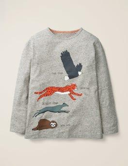 Grey Marl Animals Speedy T-shirt