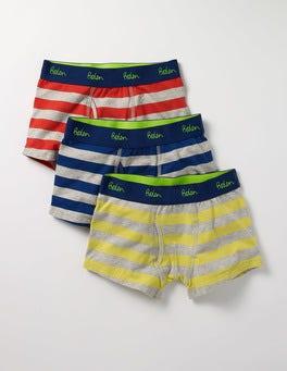 Bunt, Gestreift Jersey-Boxershorts im 3er-Pack
