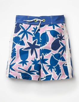Duke Blue Pineapple Palm Poolside Shorts
