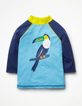 Cloudy Blue Toucan Logo Rash Vest