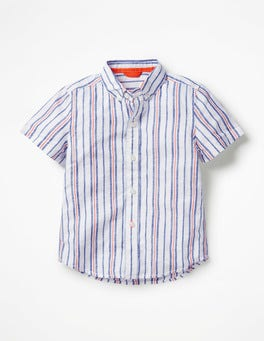 Glitzerorange/Wellenblau Witziges kurzärmliges Hemd