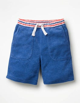 Duke Blue Jaspe Towelling Sweatshorts