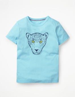 Blue Quartz Hungry Jaguar Big Mouth T-shirt