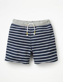 College Blue/White Slub Jersey Shorts