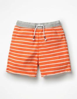 Spark Orange/White Slub Jersey Shorts