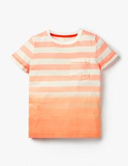 White/Neon Orange Dip-Dye T-shirt