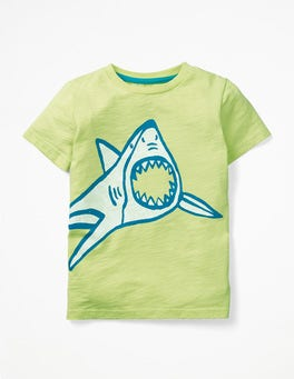Sherbert Lime Shark Glow-in-the-light T-shirt