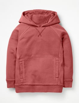 Washed Berry Pink Garment-dyed Hoodie