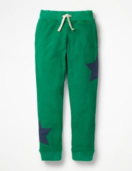Watercress Green Star Appliqué Joggers