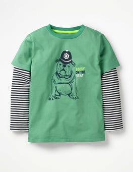 Jungle Green Bulldog British Animal T-shirt