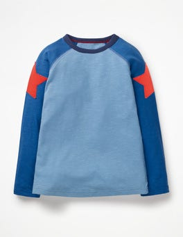 Lake Blue/Duke Blue Star Superstar Raglan T-shirt