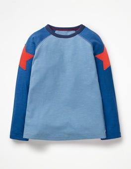 Lake Blue/Duke Blue Star Superstar Raglan T-shirt