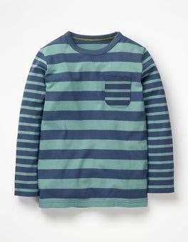 Lagoon Blue/Ocean Scene Blue Hotchpotch Stripe T-shirt