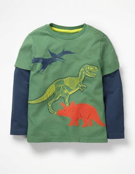 Rosemary Green Dinosaurs Textured Animal T-shirt