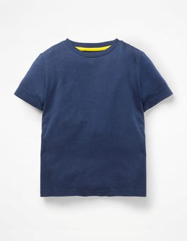 College Blue Slub Washed T-shirt