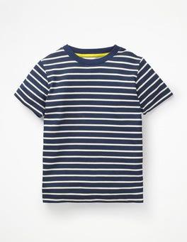 College Blue/Ecru Slub Washed T-shirt
